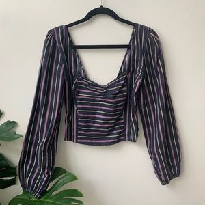 NWT Free People peasant bustier crop top blouse